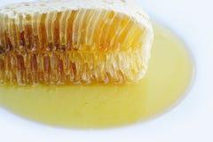 Naturlig honungskaka Royaltyfri Bild