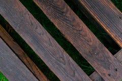 Naturlig inre med wood väggpaneler Textur av wood bruk som naturlig bakgrund trämörk textur Abstrakt bakgrund som är tom Arkivfoton