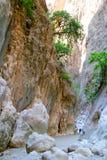 Naturlig kanjon i Turkiet Royaltyfria Foton