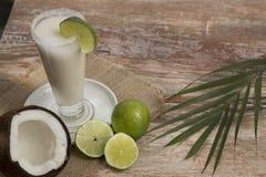 Naturlig kokosnötlemonad - Cocosnucifera arkivbilder