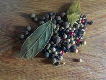 Naturlig krydda för svartpepparkorn royaltyfria bilder