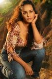 naturlig kvinna Royaltyfria Bilder
