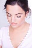 naturlig kvinna för makeup royaltyfria bilder
