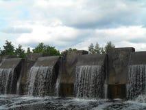 Naturlig landskapvattenfall Royaltyfri Fotografi