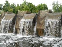 Naturlig landskapvattenfall Arkivbilder