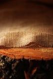 Naturlig linnetextur på trä arkivfoton