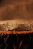 Naturlig linnetextur på trä royaltyfri fotografi