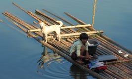 Naturlig livsstil Kanchanaburi Thailand Arkivfoto