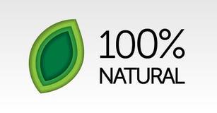 Naturlig logo Arkivbild