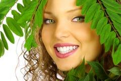 naturlig makeup Arkivbild