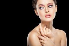 Naturlig makeup Fotografering för Bildbyråer