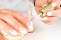 naturlig manicure fotografering för bildbyråer