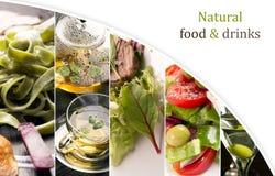 Naturlig mat (i gröna färger) royaltyfria foton