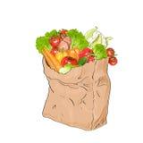 Naturlig ny marknad för organisk mat för rå grönsaker royaltyfri illustrationer