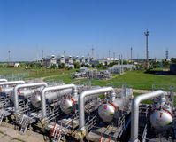 naturlig olja för gasindustri Arkivbilder