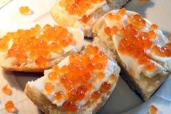 naturlig orange för abstrakt bakgrundskaviar Royaltyfria Bilder