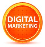 Naturlig orange rund knapp för Digital marknadsföring vektor illustrationer
