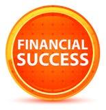 Naturlig orange rund knapp för finansiell framgång stock illustrationer