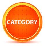 Naturlig orange rund knapp för kategori royaltyfri illustrationer