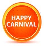 Naturlig orange rund knapp för lycklig karneval royaltyfri illustrationer