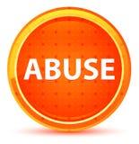 Naturlig orange rund knapp för missbruk royaltyfri illustrationer