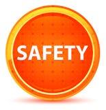 Naturlig orange rund knapp för säkerhet royaltyfri illustrationer