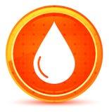 Naturlig orange rund knapp för vattendroppsymbol vektor illustrationer