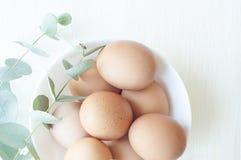 Naturlig påsksammansättning med ägg royaltyfri bild