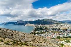 naturlig panorama för bakgrundsstadsliggande Royaltyfri Fotografi