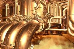 naturlig pipeline för gas Arkivfoto