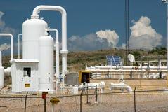 naturlig pipeline för gas Arkivbild