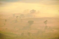 Naturlig plats av sollöneförhöjningen Arkivfoto