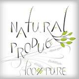 naturlig produkt royaltyfri illustrationer