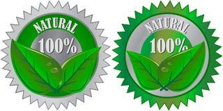 naturlig produkt för ecoetikett Royaltyfri Fotografi