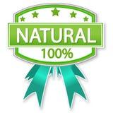 naturlig produkt för matetikett Arkivfoton