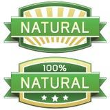 naturlig produkt för matetikett Royaltyfri Fotografi