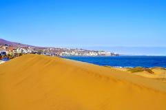 Naturlig reserv av dyn av Maspalomas, i Gran Canaria, Spanien arkivfoto
