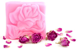 Naturlig rosa tvål arkivfoto
