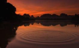 Naturlig sjö på Nongtalae Fotografering för Bildbyråer