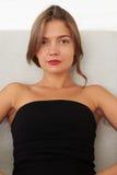 Naturlig skönhet av kvinnorna, elegansen och självförtroendet Fotografering för Bildbyråer