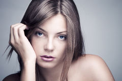 Naturlig skönhetkvinna Royaltyfri Fotografi