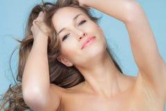Naturlig skönhetkvinna Royaltyfria Bilder