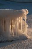 naturlig skulptur för is Arkivbild