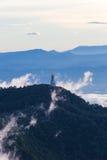Naturlig solnedgångsoluppgång Phu Thap Boek, Phetchabun berg Landskaphimmel på solnedgången Dawn Sunrise Osedda Thailand Fotografering för Bildbyråer