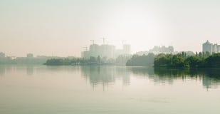 naturlig sommarwallpaper för abstrakt morgon Royaltyfri Bild