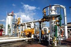 naturlig station för gas Arkivbild