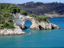 naturlig sten för bro Arkivfoto