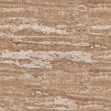 Naturlig sten för Travertinebakgrund Sömlös fyrkantig textur, t Arkivfoto