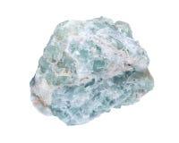 Naturlig stor bit för rå grön fluorite Arkivbilder