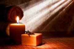 naturlig tvål för aromatherapy stångbad Arkivfoto